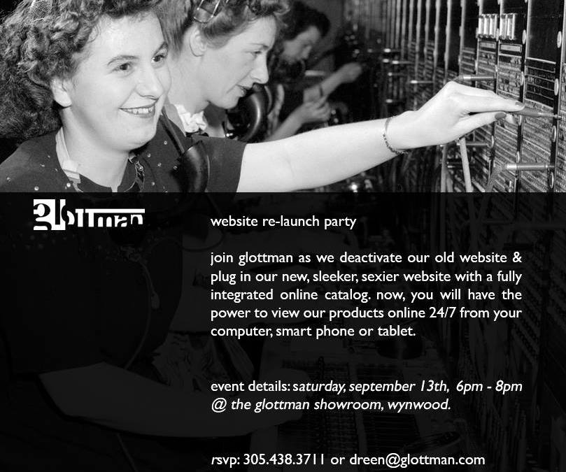 glottman website re-launch party