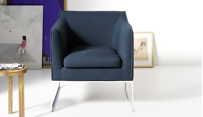the mell easy chair comes to glottman