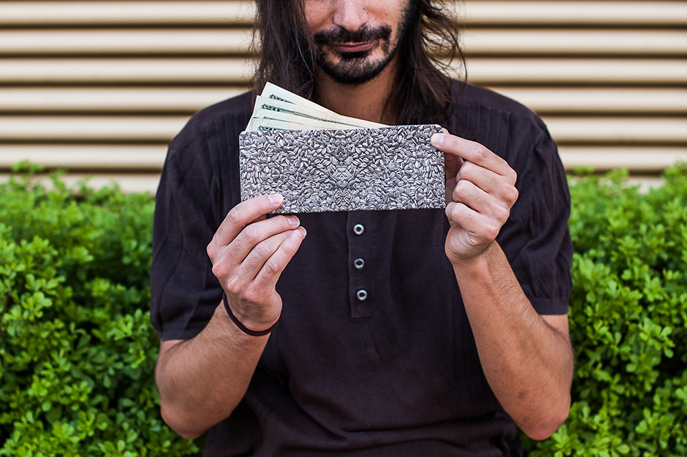 the seed wallet from ai weiwei available @ glottman