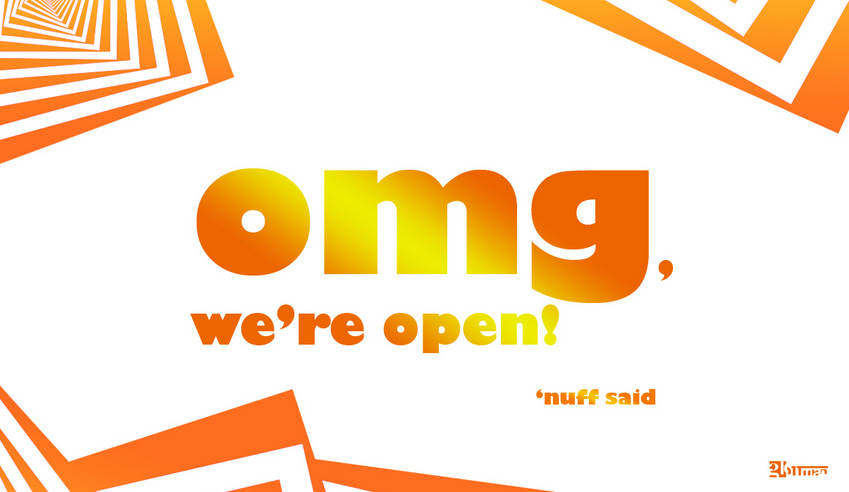 omg we're open, just in time for father's day…