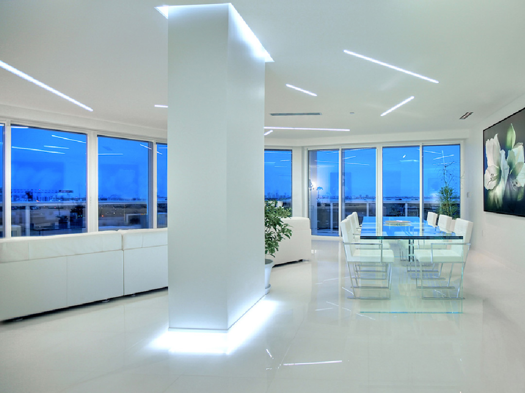 glottman projects bal harbour living area