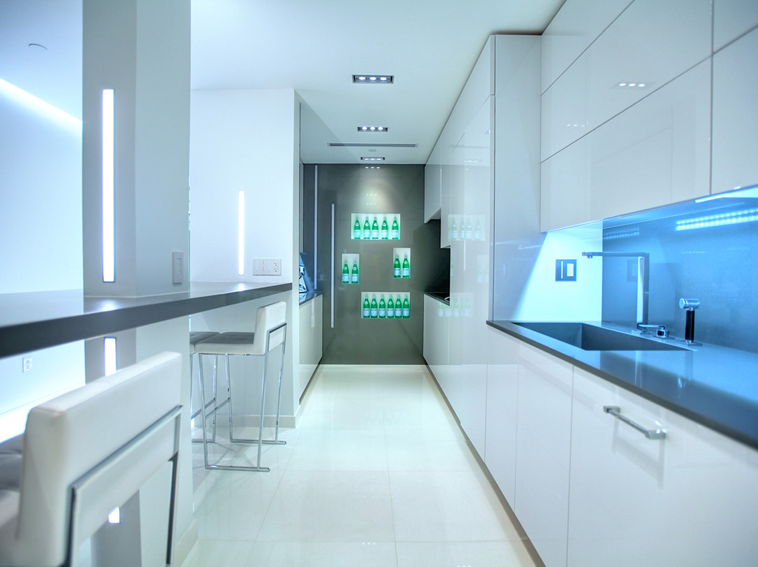 glottman projects bal harbour kitchen area