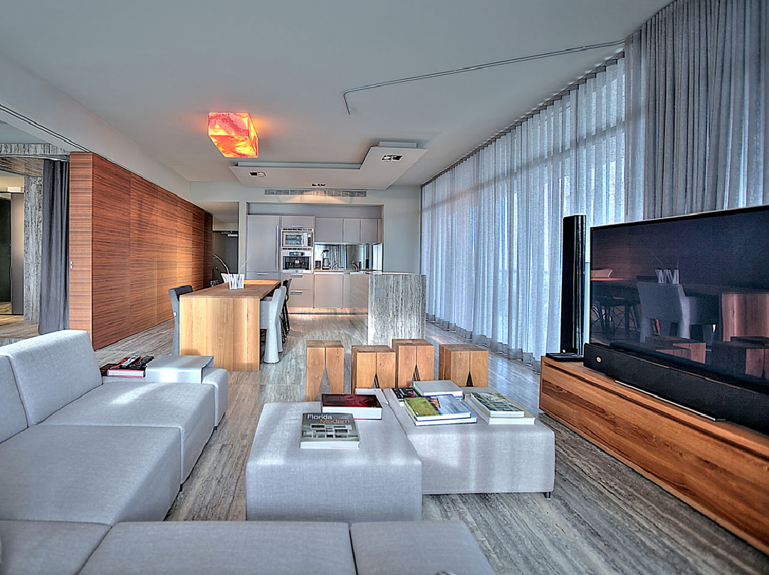 glottman projects south beach living area