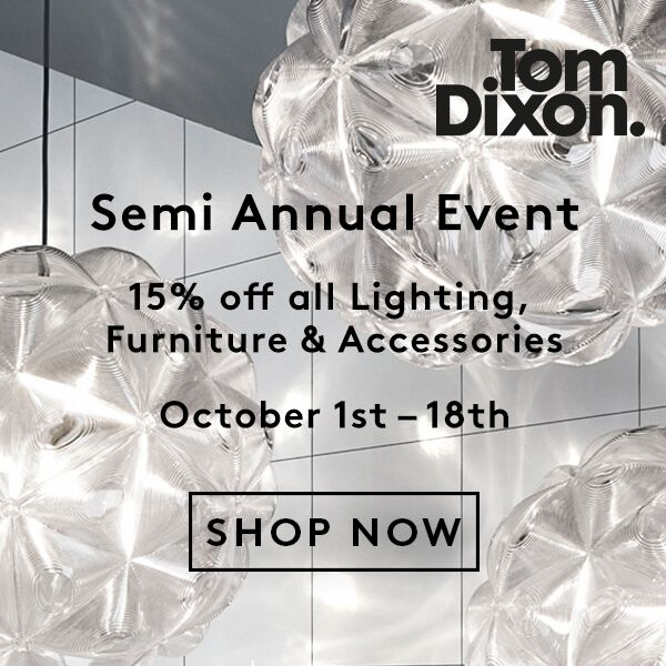 15 % off tom dixon products