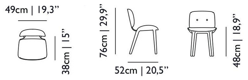 nut dining chair size dimensions