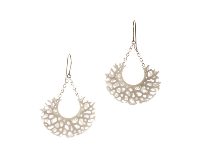 vessel earrings white