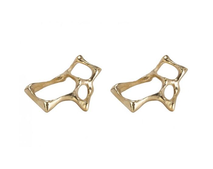 bone napkin ring brass