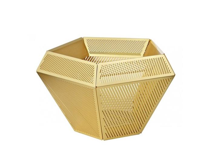 cell tea light holder brass