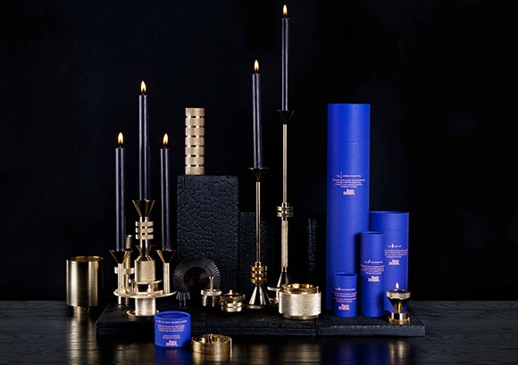gift idea 6.0: the cog collection by tom dixon/ super-functional & inspired by the great british engineering, the cog collection includes a candle holder, candelabra and related accessories. creating a sense of the tooled and the machined, cog collection is formed in brass plated solid aluminum. candle holder tall $165, short $145, candelabra $315 & candle taper set $23 to purchase/stop by the store.