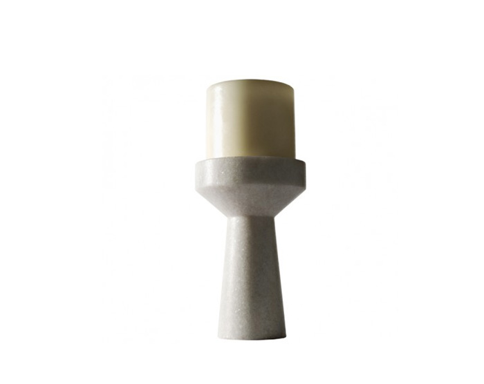 stone candle holder short