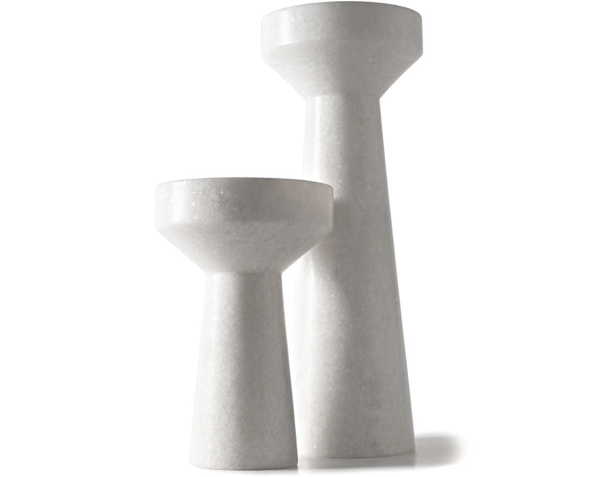 gift idea 10.0: stone candle holder (20% off) by tom dixon/ the stone candle holder is an ultra minimal reversible candle holder carved from solid morwad marble. holds thick and tapper candles. to purchase/stop by the store & save 20% off the tom dixon stone candle holders (small or large) while supplies last. sale ends 1/09/2016. simply mention this email.