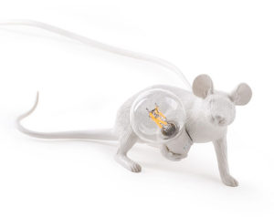 mouse lamp lying down